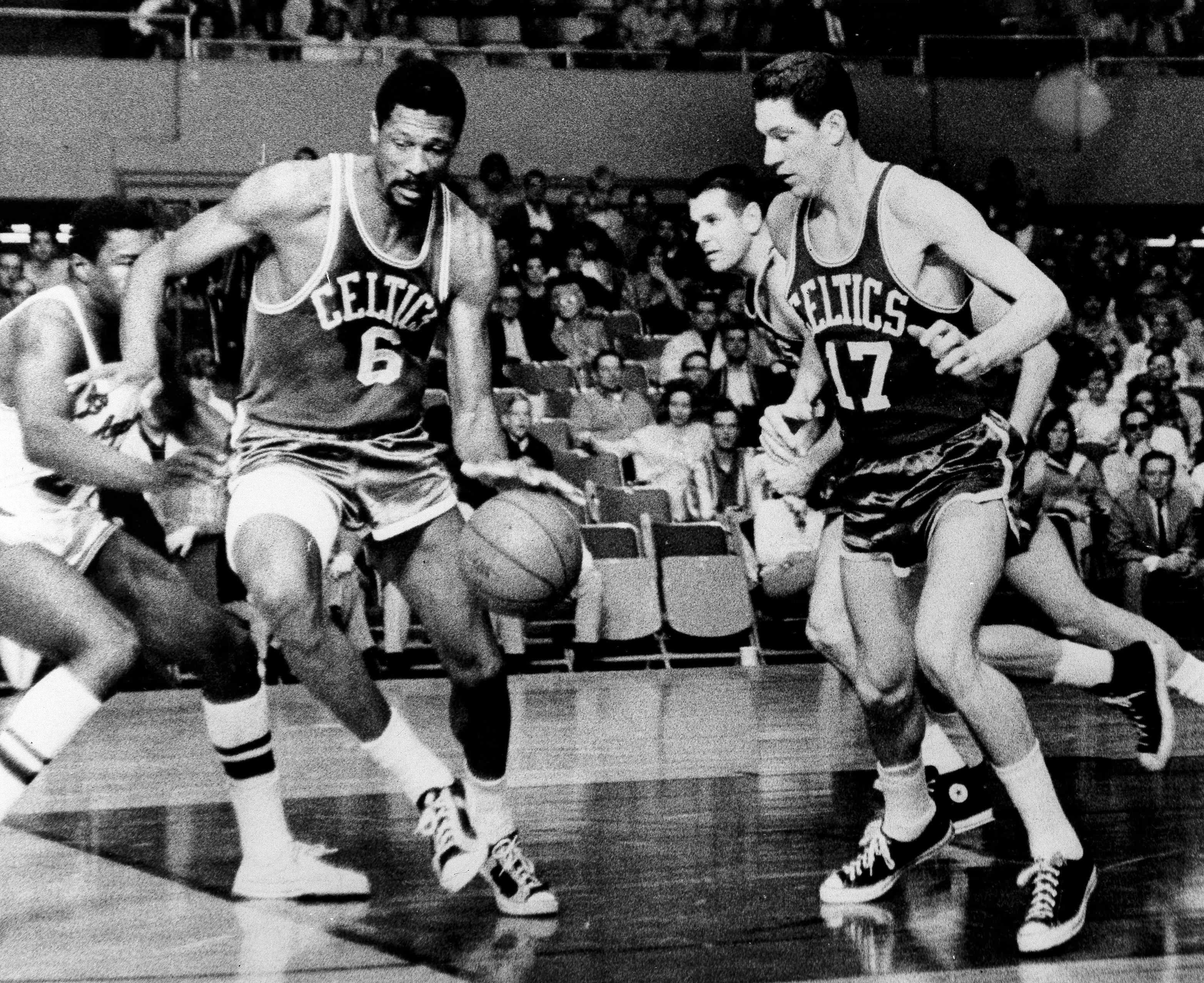 Bill Russell, Jim Barnes, John Havlicek