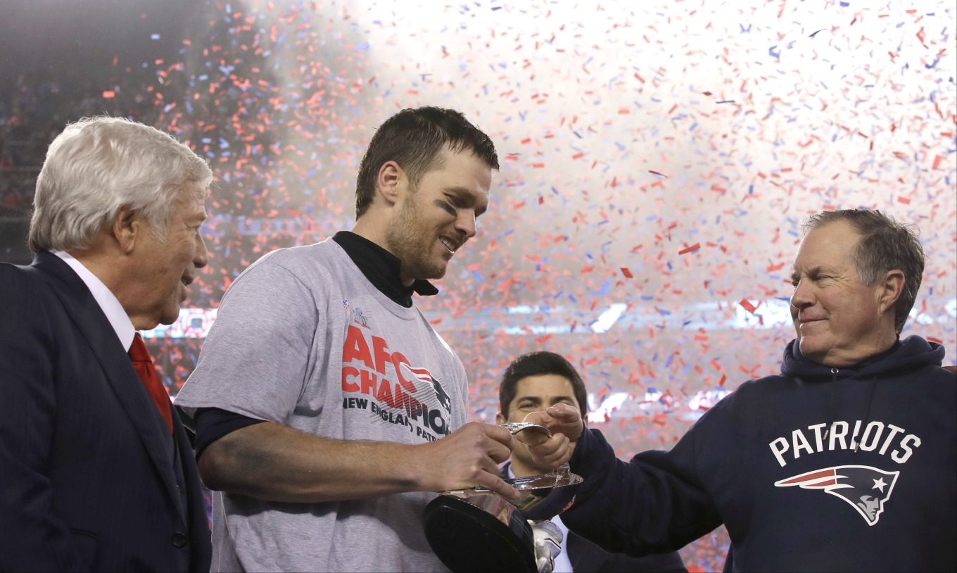 Robert Kraft, Tom Brady, Bill Belichick